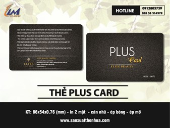 IN THẺ VIP PLUS CARD MẪU ELITE